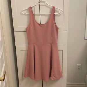 Cute Pink and Simple Sleeveless Mini Dress H&M